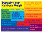 Manage Your Children's Weight Flier
