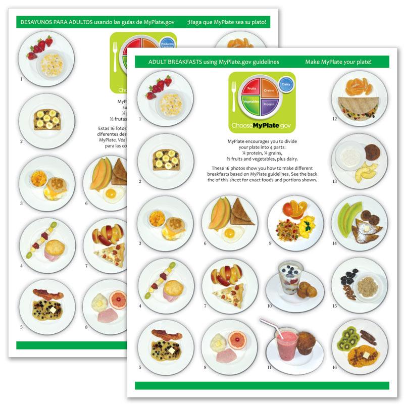 MyPlate Photo Food Pads - Adult Breakfast