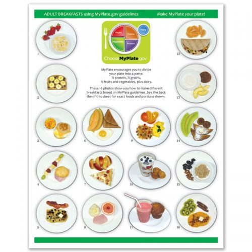 MyPlate Photo Food Pads - Adult Breakfast