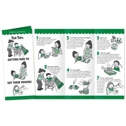Ten Tips Getting Kids to Eat Their Veggies pamphlet