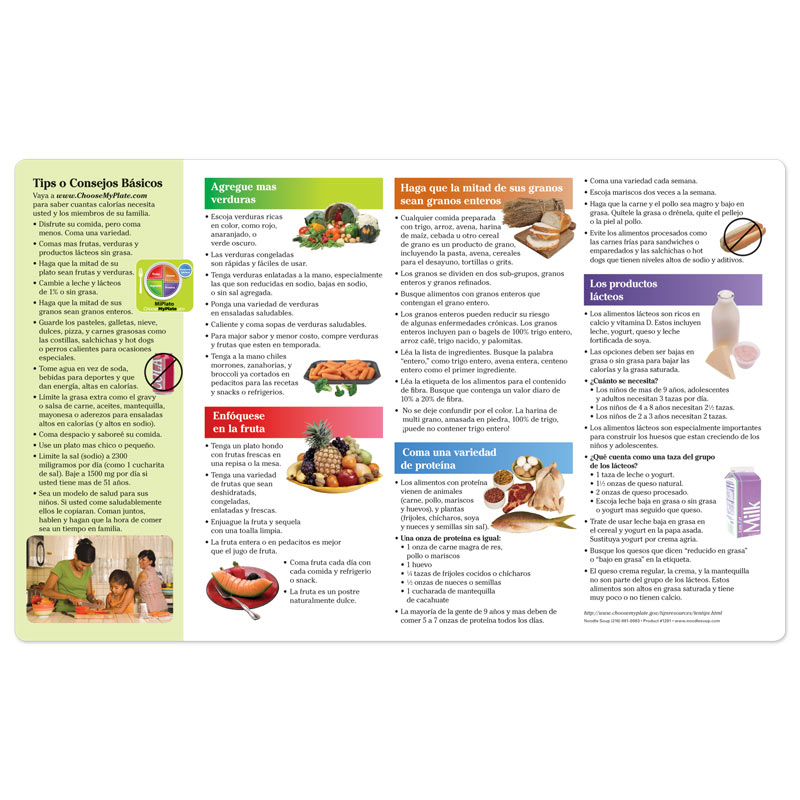 MyPlate Placemat - Spanish