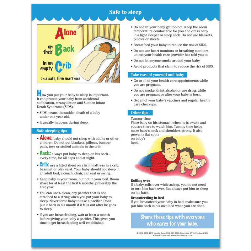 Safe to Sleep tear pad - English