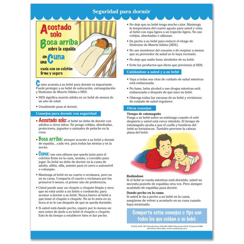 Safe to Sleep tear pad - Spanish