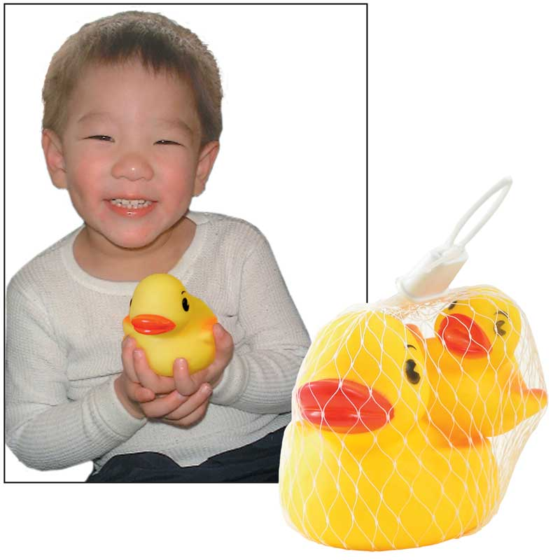 Rubber duck bath toys