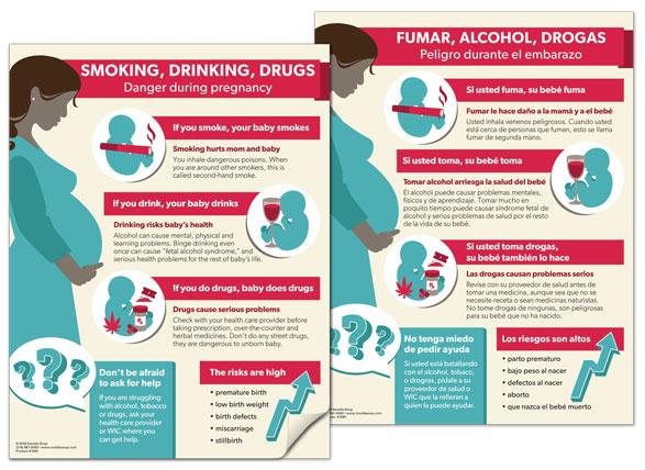 Smoking Drinking Drugs tear pad