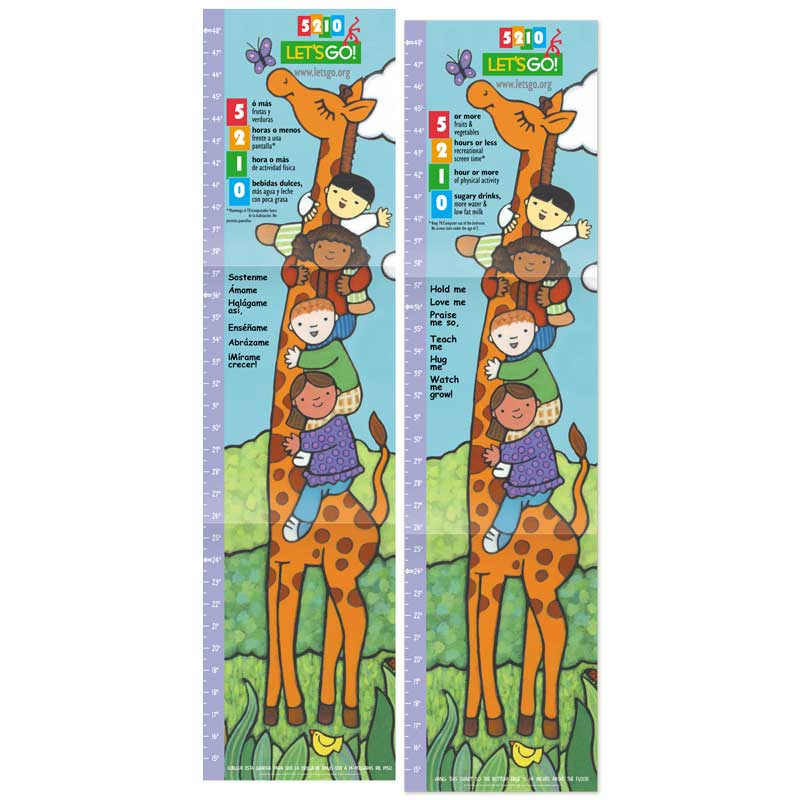 5-2-1-0 Let's Go! Growth Chart