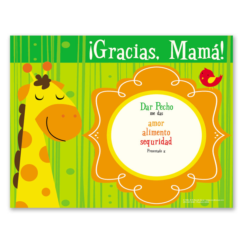 Award Certificate Thanks Mom! - Spanish