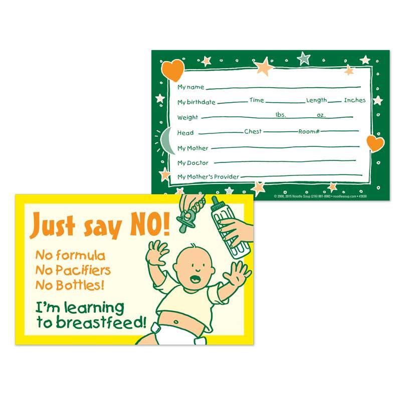 Crib Card Say No - English