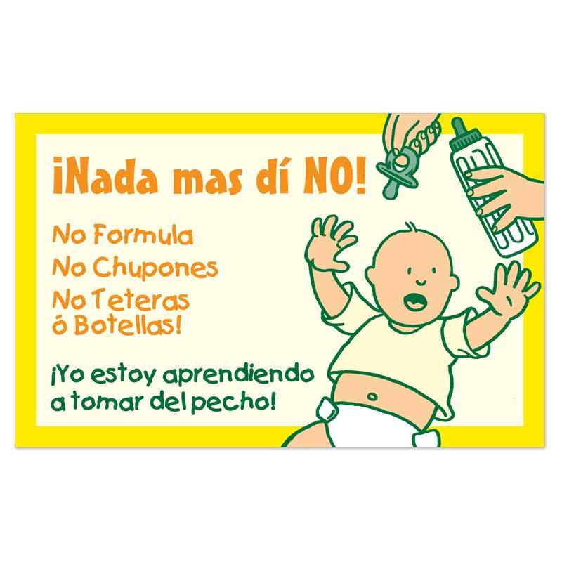 Just Say No crib cards - Spanish