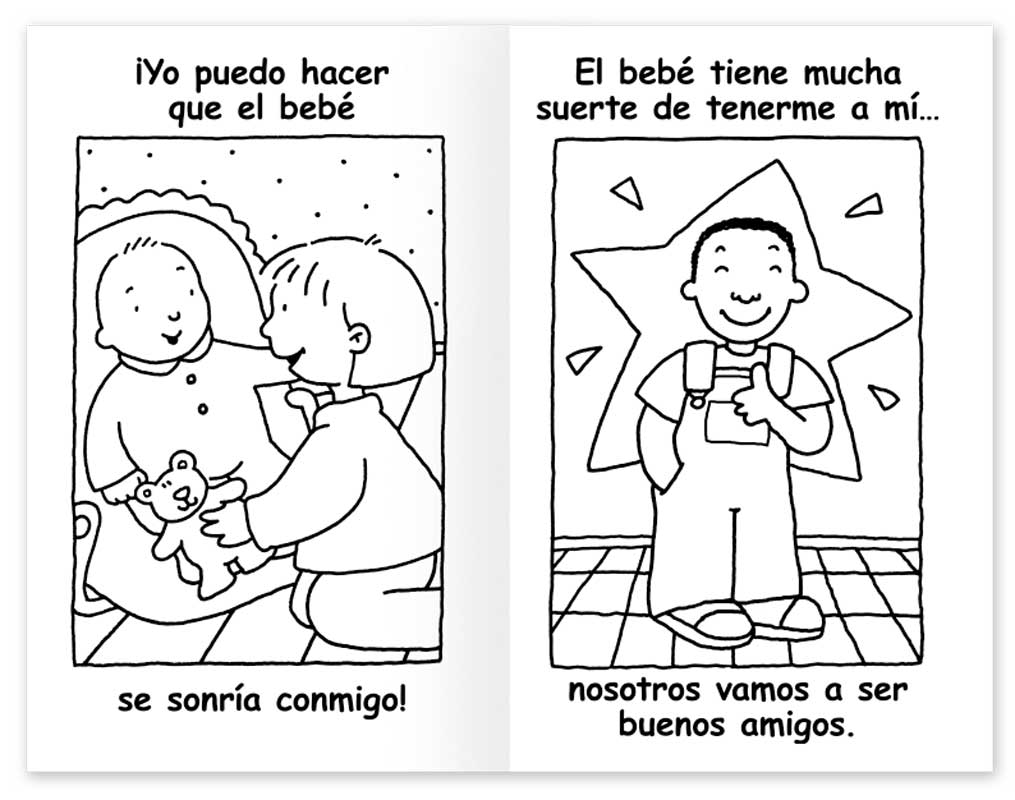 Our New Baby... and ME! Coloring Book - Spanish