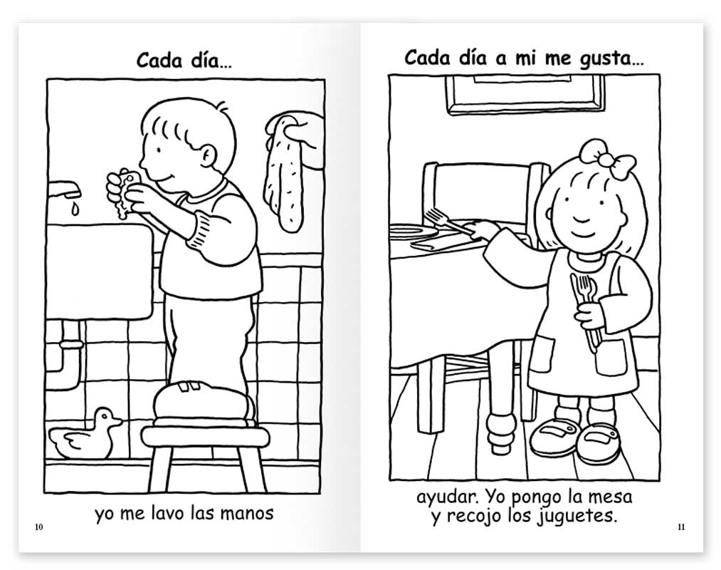 Keeping Healthy Coloring Book - Spanish
