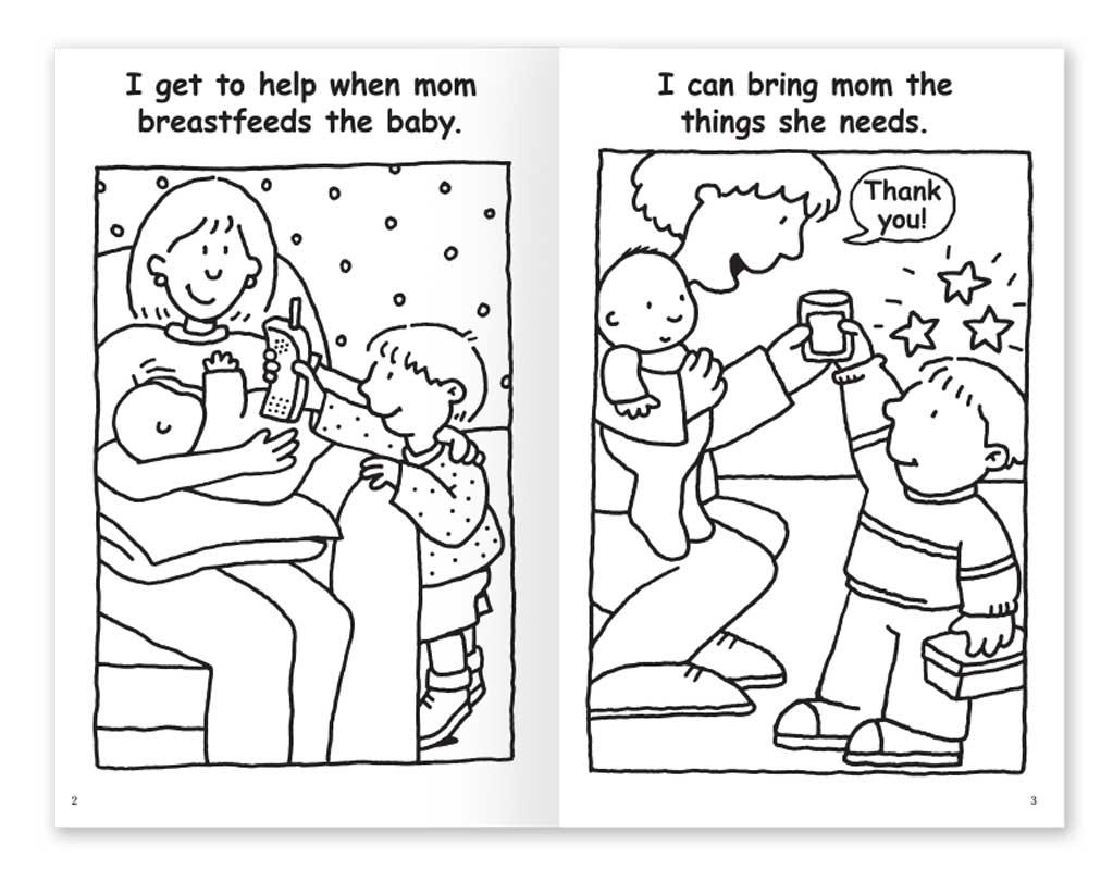 Mom is Breastfeeding coloring book