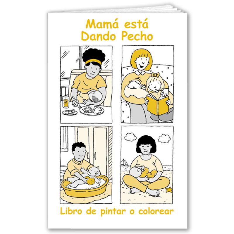 Mom is Breastfeeding coloring book- Spanish