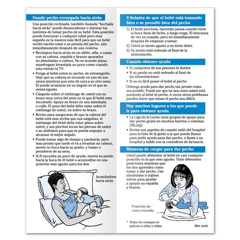 Breastfeeding Successful Breastfeeding Latching Flier - Spanish