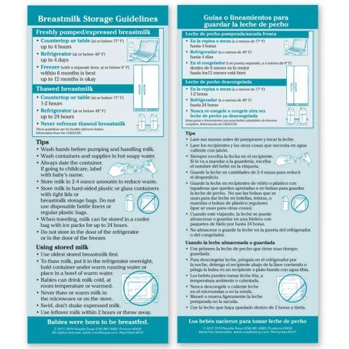 Breastmilk Storage Guidelines flier