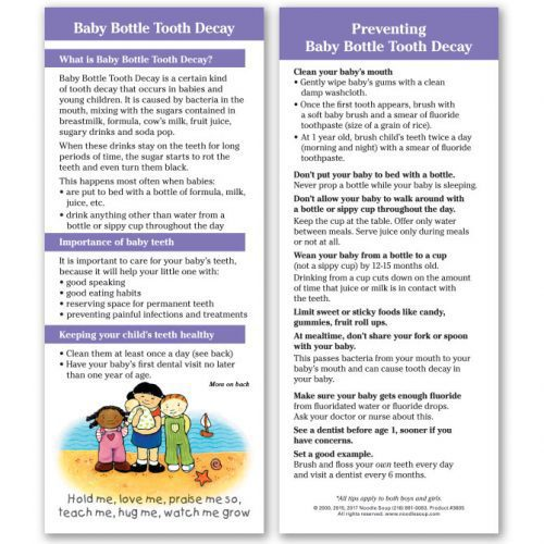 Baby Bottle Tooth Decay - English