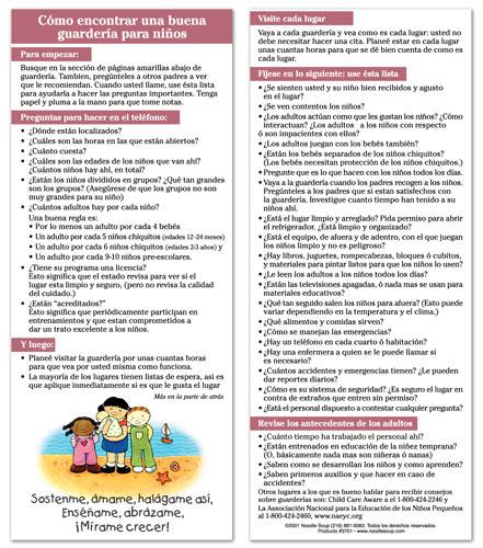 Finding Childcare Spanish flier