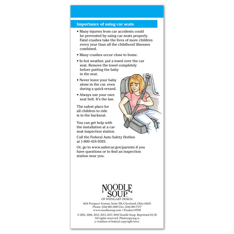 Care Seat Safety flier - English