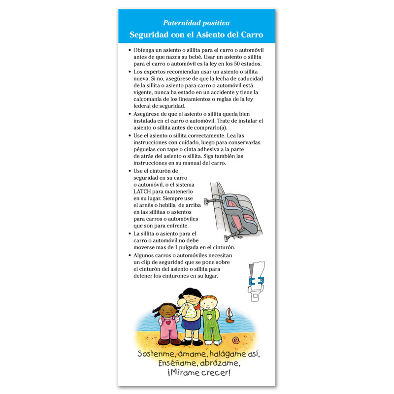Care Seat Safety flier - Spanish