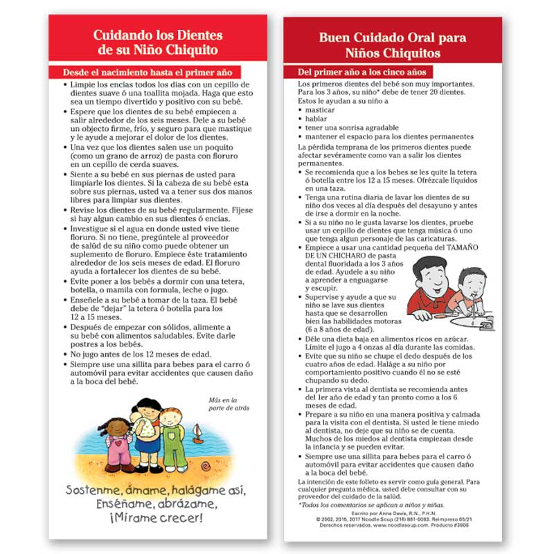 Care of Children's Teeth Parent Pack - Spanish
