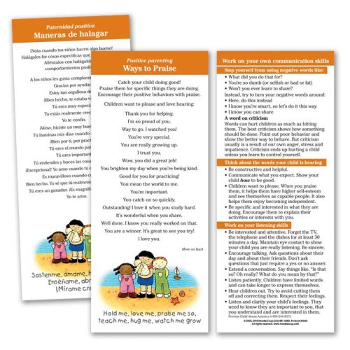 Ways to Praise Parent Pack