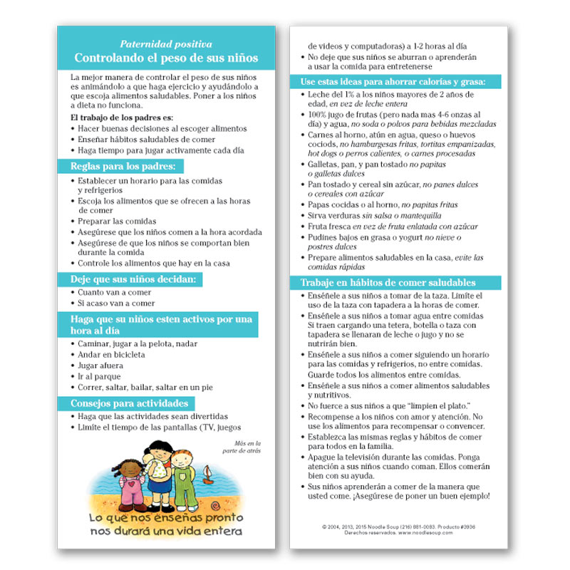 Controlling Your Child's Weight Flier - Spanish