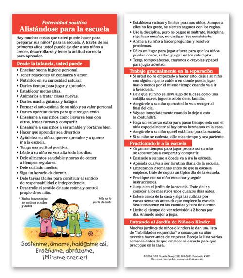 School Readiness Parent Pack