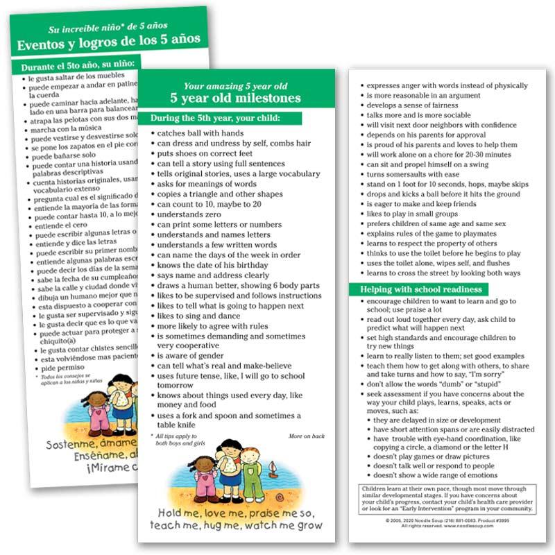 5 Year Milestones Parent Pack
