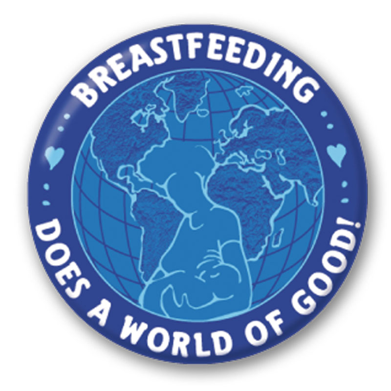 Button Breastfeeding does a World of Good