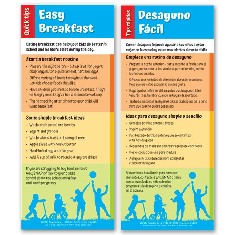 Easy Breakfast Quick Tips flier