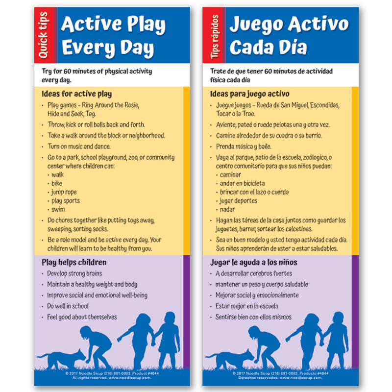 Active Play Quick Tips flier