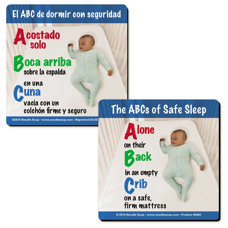The ABCs of Safe Sleep magnet