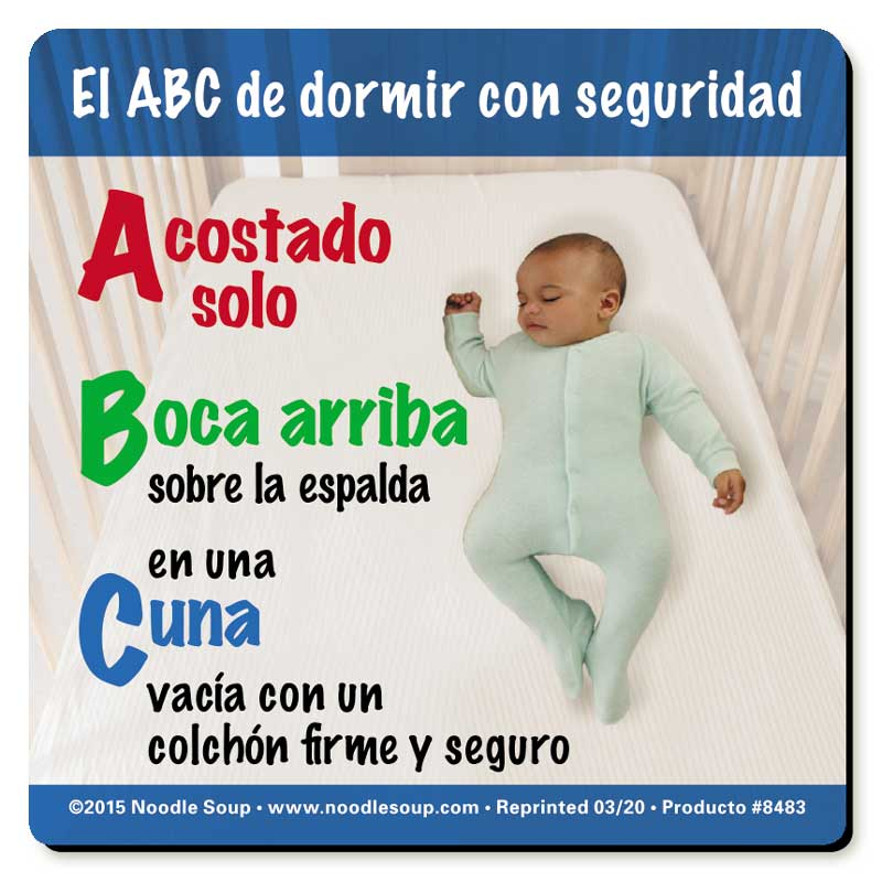 The ABCs of Safe Sleep magnet - Spanish
