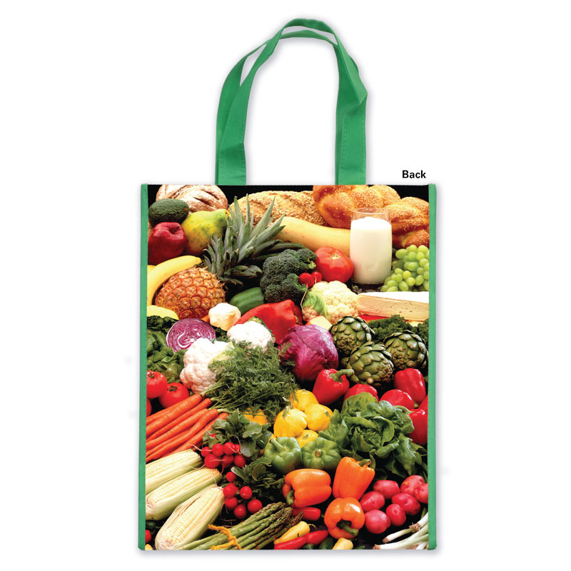 MyPlate Laminated Grocery Tote - Back