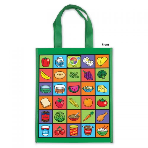 MyPlate Laminated Grocery Tote - Front