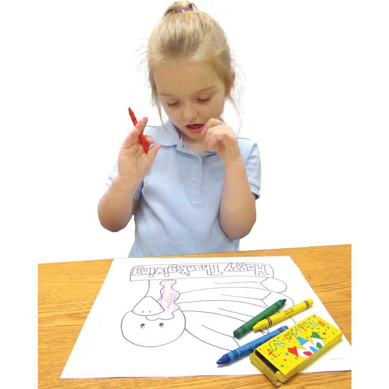 Boxed Fun Crayons
