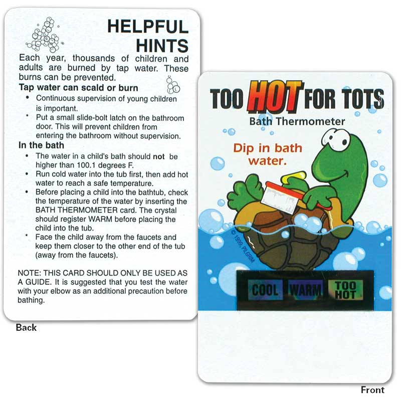 Turtle Bath Thermometer Card