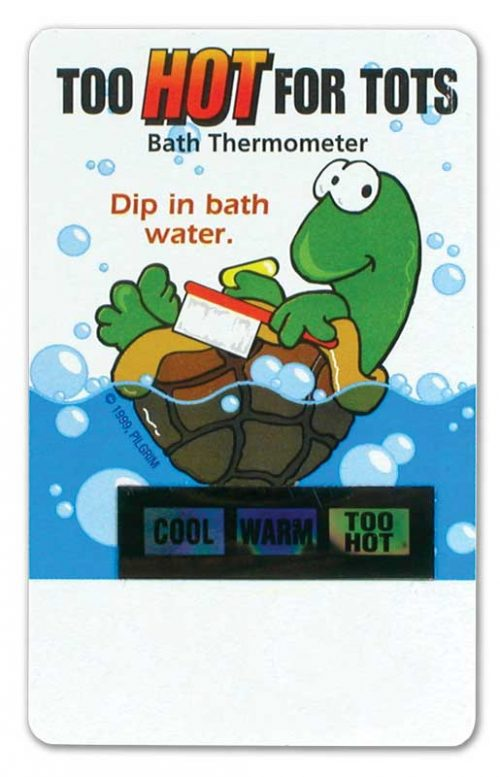 Turtle Bath Thermometer Card - Front