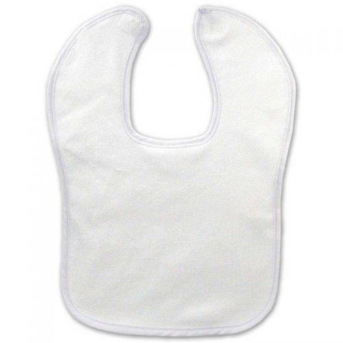Blank White Velcro Bib