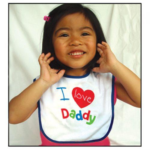 I Love Daddy bib