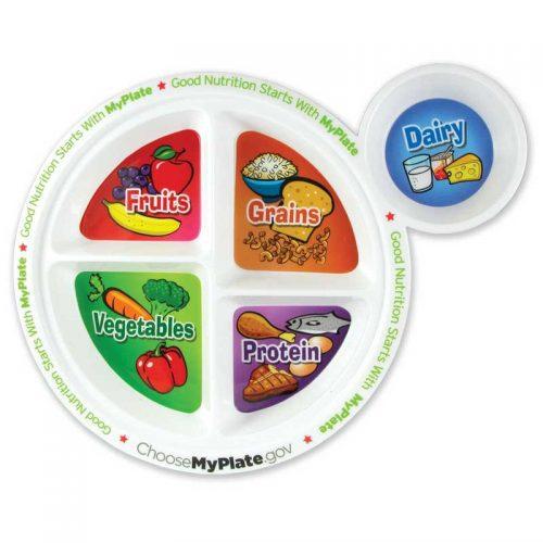 "MyPlate 9-1/4"" Plastic Plate"
