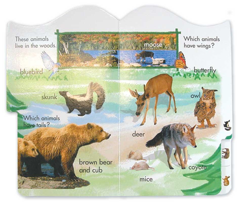Brainy Baby Tabbed Board Book - Animals