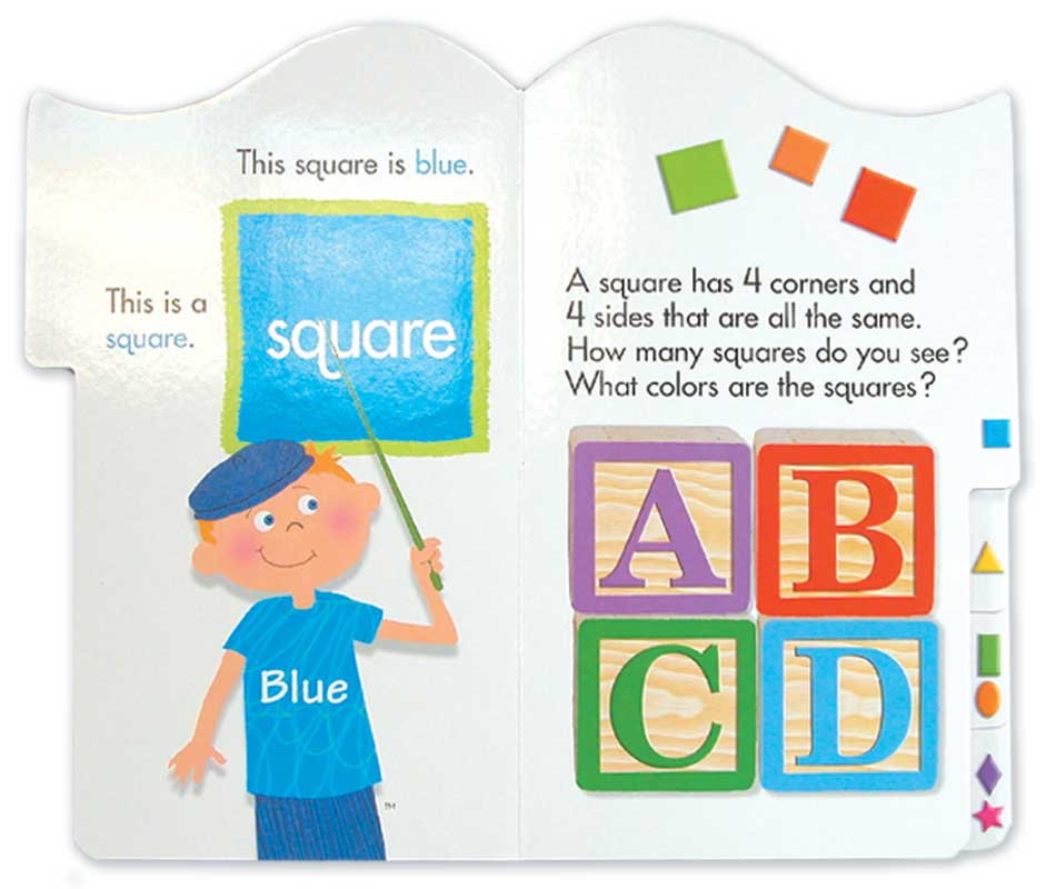 Brainy Baby Tabbed Board Book - Shapes & Colors