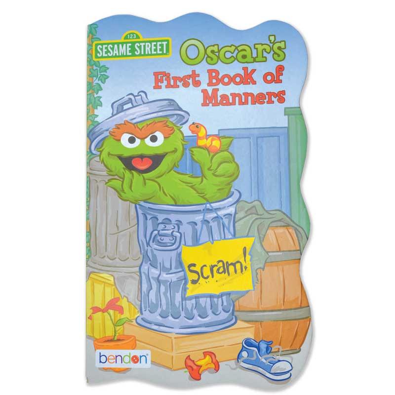 """Sesame Street """"First Book"""" Board Book Set - Oscar's First Book of Manners"""