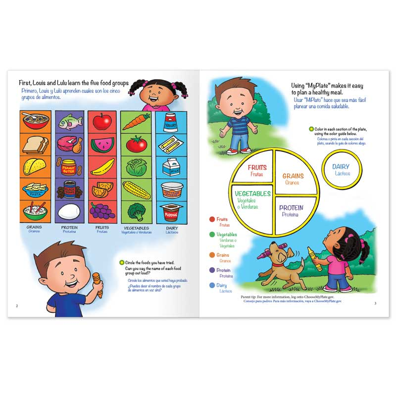 Louis and Lulu Eating Healthy activity book