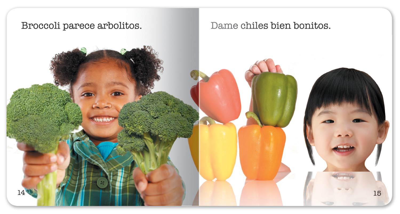 I Love Fruits and Veggies Little Book - Spanish