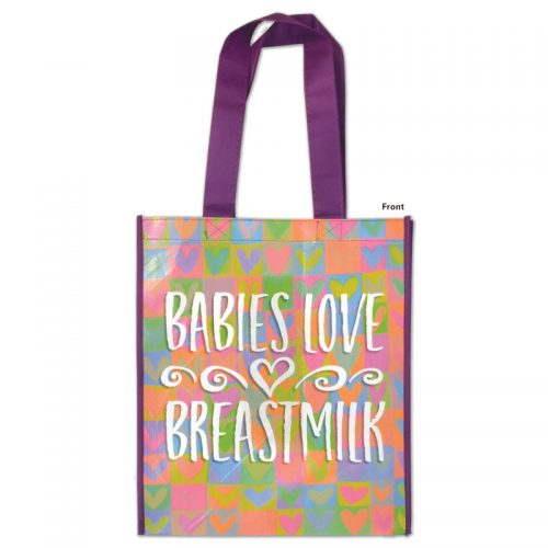 Grocery Tote Babies Love Breastmilk - front