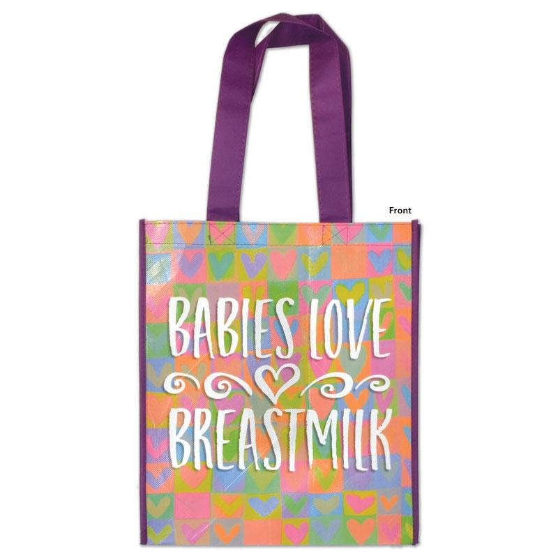 Grocery Tote Babies Love Breastmilk - front