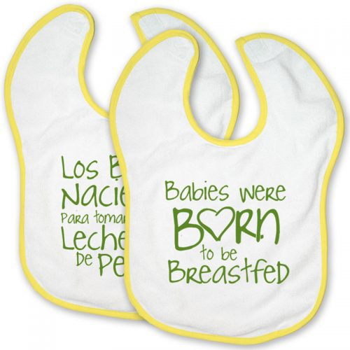 Breastfeeding Born to be Breastfeed Velcro Bibs