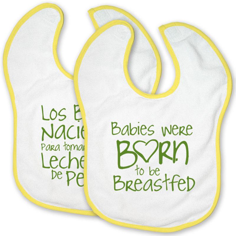 Breastfeeding Born to be Breastfeed Velcro Bibs